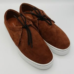 NIB ClearWeather Brown Suede Sneakers Size 9